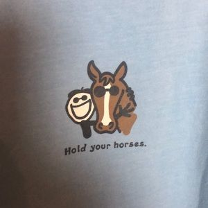 Life Is Good Tops - Life is Good Horse Tee Shirt Size Small
